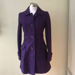 Tulle Purple Coat